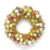 High Quality indoor home decoration 30cm 45cm 60cm christmas ball wreaths with led lights