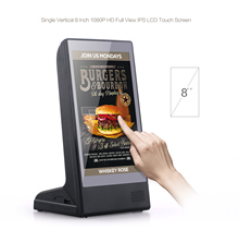 Fast charging 20800mAh power bank wifi digital 8 inch menu table advertising charging station for restaurant hotel