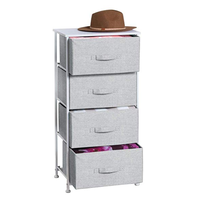 2020 new arrivals Fabric 4-removable Drawer Storage Organizer Dresser for Clothing, Sweaters, Jeans, Blankets - Gray