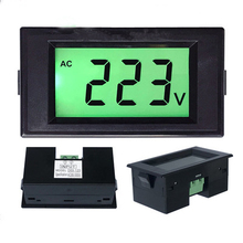 D69-120 AC 80-500V LCD Digital Display voltage <strong>meter</strong>, voltmeter green backlit