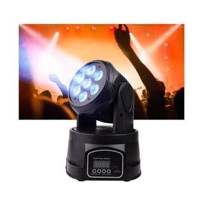 LED Moving Head Wash Lights RGBW LED Mini Moving Head 7x12w
