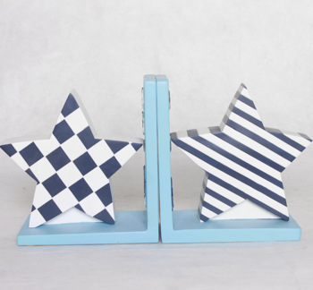 Customize Promotional Gifts Resin Pentagram Bookends