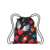 Large Patterns Black Background Printing Drawstring Bag