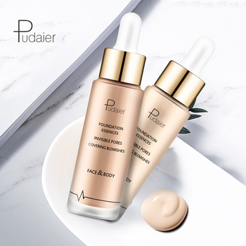 OEM best brand foundation makeup private label choose color with empty bottle for dark skin liquid foundation full coverage