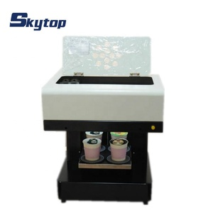 4 cups coffee printer printing machine for DIY coffee, cake, milktea, pizza