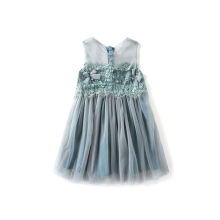 Boutique blue formal flower wedding <strong>girls</strong> party <strong>dresses</strong> children <strong>dresses</strong>