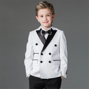 Handsome Jacket Pants 2 Pieces Set Royal Blue Boys Suits for Wedding Dinner Formal Suits Children Kids Tuxedos