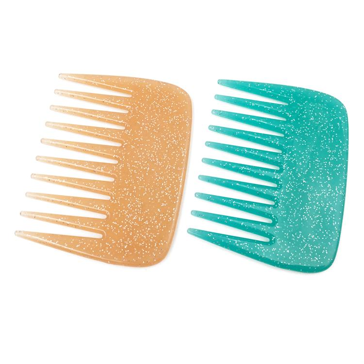 Popular Plastic Wide Teeth Mini Pocket Pretty Glitter Comb