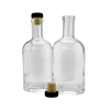 750ml 25 oz high quality heavy base glass spirit oslo bottles for vodka with cork seal