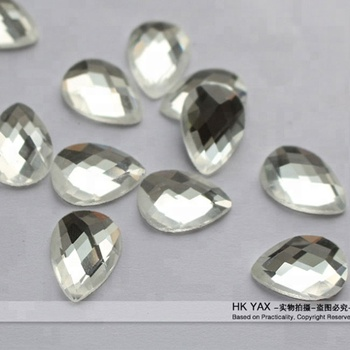 C0806  HK YAX DMC tear drop shaped hot fix rhinestone crystal stone for dresses,crystal shoes,3d crystal laser engraving gifts