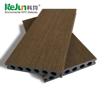 Outdoor solid hollow wpc co-extrusie decking board