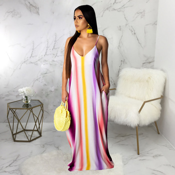 Plus size maxi dresses women summer with sleeves