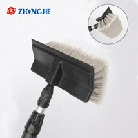 PVC soft bristle telescopic flow through truck car wash brush