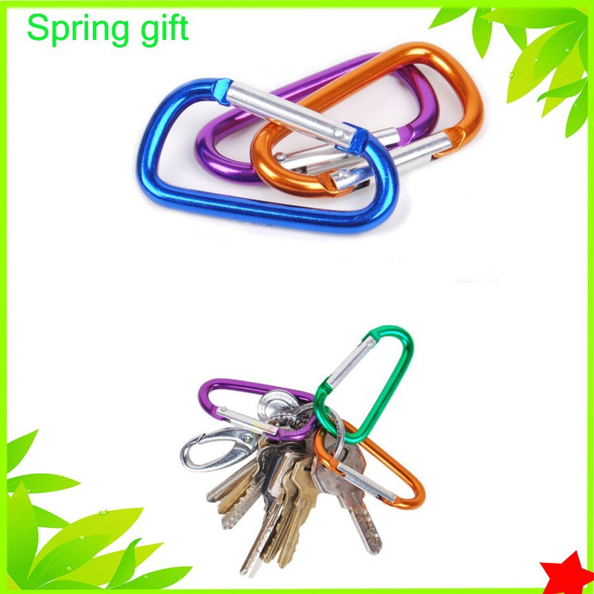 Metal jewelry carabiner Screw Locking /Climbing Snap Hook/ Aluminum Carabiner For Keychain