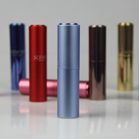 Hot sell aluminum portable twist perfume atomizer