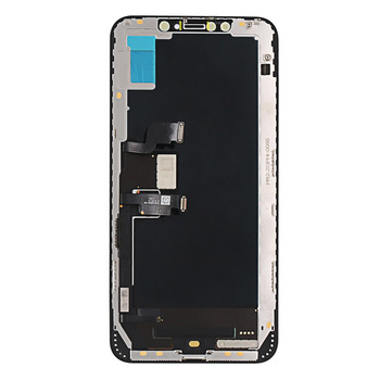 Huaqiang Bei TOP for iPhone XS max OLED LCD Front glass touch +frame+camera