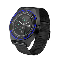 High quality 1.22 inch Metal Strap N9 <strong>Smart</strong> <strong>watch</strong> Round <strong>Smart</strong> <strong>Watch</strong> Support SIM Card and Camera touch screen <strong>watch</strong>