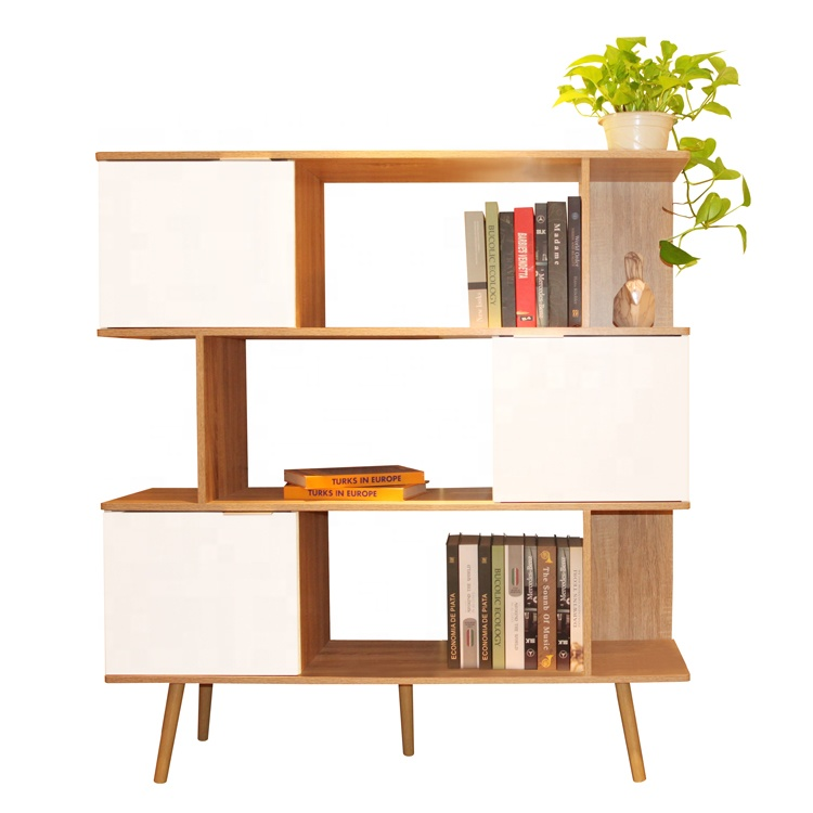 2019 popular style 3 tiers modern 5 shelf bookcase