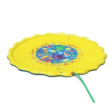 Outdoor Yellow Sprinkle and Splash Play Mat Inflatable Kids Baby Water Play Mat
