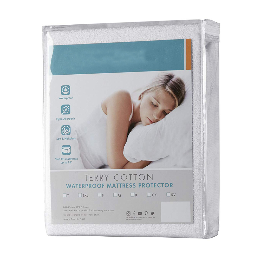 Premium Hypoallergenic 100% Waterproof Mattress Protector - 15 Year Warranty - Vinyl Free - Queen