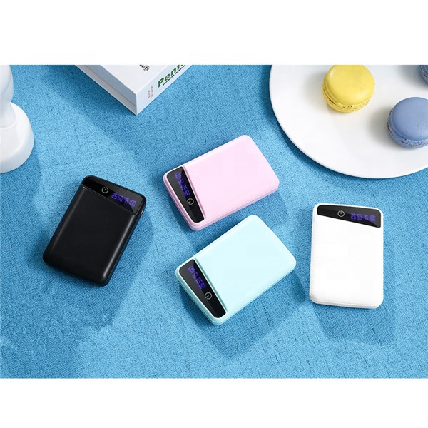 New colorful private portable 10000mAhMini Power Bank with LED display <strong>P100</strong>