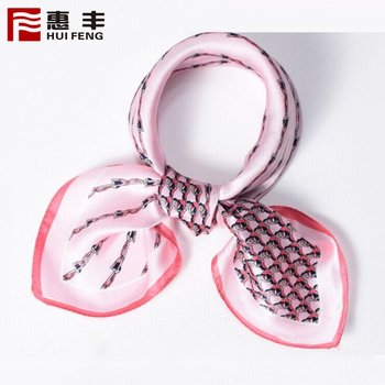 China Factory Custom Thin Silk Screen Scarf ,Scarf With Silk