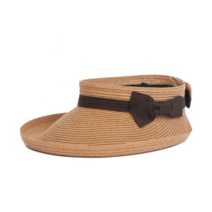 One Piece Straw paper sun visor hat beach summer sun hat for women