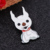 custom white cute dog animal cheap button badge pins