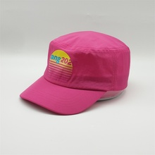 Custom Printing Logo Unstructure Hat ,4 Panel Fast Dry Waterproof Army Hats,Women Pink Yang 2020 Military <strong>Caps</strong>