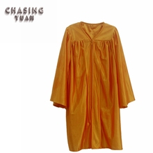 2019 Elementary School Kids Graduation Gown Shiny <strong>Orange</strong>