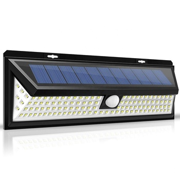 118 LED High Power Exterior Lighting Waterproof Solar Powered Outdoor Motion Sensor Wall Mounted Home Gate Lights Modern Lamp