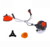 gasoline brush cutter with swing metal blade and 43cc grass trimmer with nylon rope and gasoline grass cutter machine