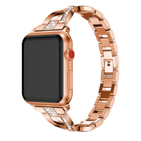 For Apple Watch Series 4 3 2 1 High Quality Stainless Steel Fashionable Women Watch Band Strap