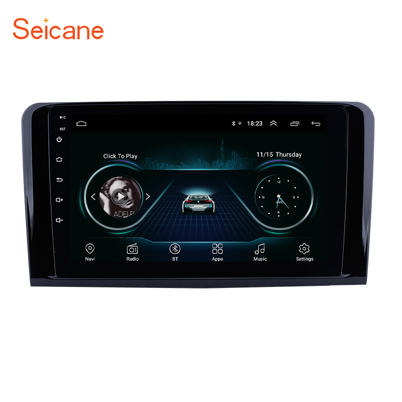 9 inch Android 8.1 Car Stereo GPS Navigation for 2005-2012 Mercedes Benz ML CLASS <strong>W164</strong> ML350 ML430 ML450 ML500