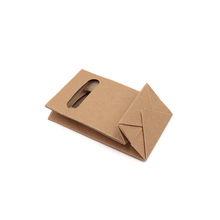 Good selling industrial factory shopping brown paper <strong>bag</strong> with window