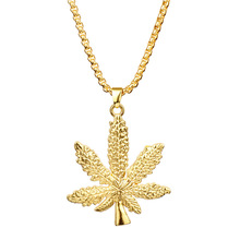 Female Cannabis Maple Leaf Long Sweater Chain Iced Out Jewelry Pendant <strong>Necklace</strong>