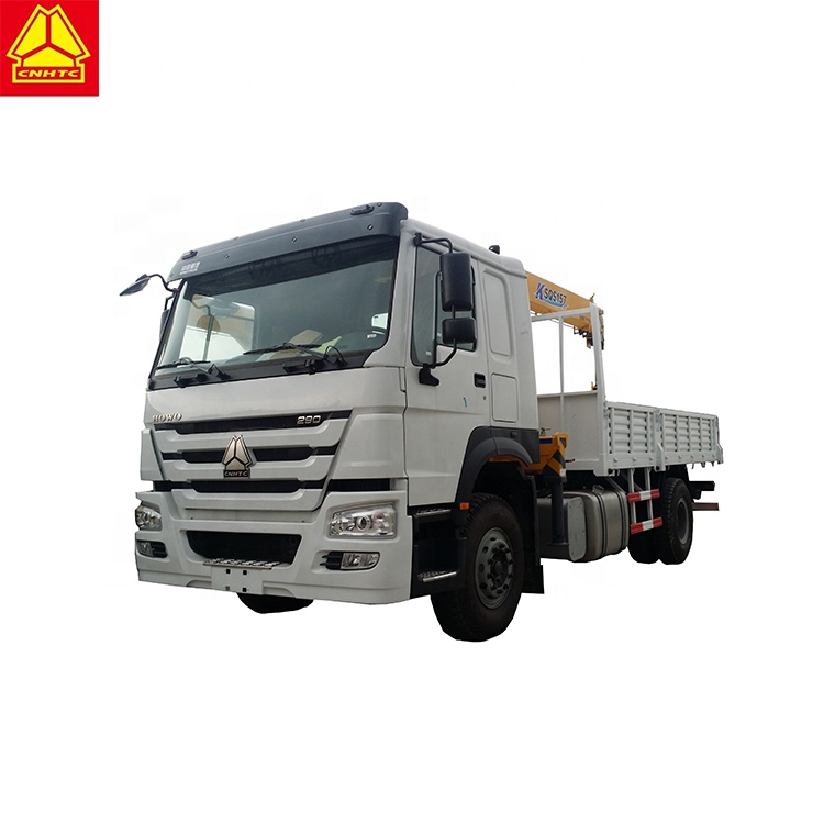 Sinotruk Howo mini truck mounted crane with 3 ton Telescoping boom truck crane for sale