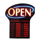 Led Open Business hour Program sign ,Business Time display led Open Sign