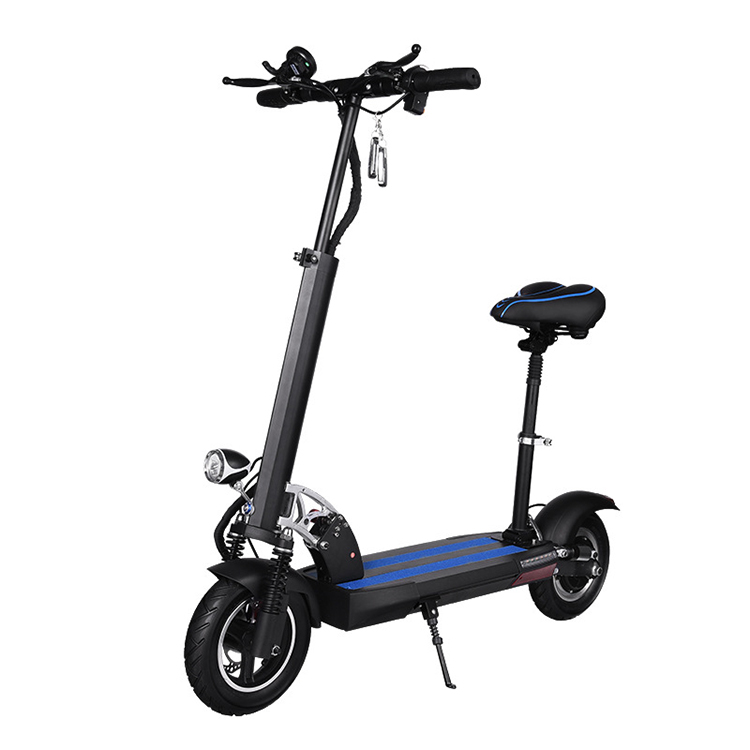 China Wholesale Highest Configuration Black Folding <strong>Electric</strong> Scooter
