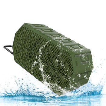 Wireless Bluetooth Speaker with Waterproof IP66, Dustproof, Shockproof and Rechargeable lithium-ion polymer Battery for Travel C
