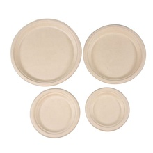 Disposable disposable eco friendly bagasse sugarcane restaurant travel dish <strong>plate</strong>
