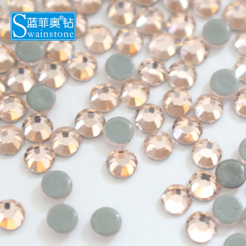 W1020 DHL FREE SHIP!! 7A top quality strass hotfix SWAINSTONE ss16 light peach rhinestone Champagne rhinestone iron on strass