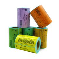 Manufacture Wholesale Top Coated Color 100*100mm Bar code Direct Thermal Label for Zebra Printers