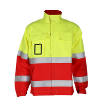 China Manufacture Men'S <strong>Safety</strong> Reflective Red Working Jacket