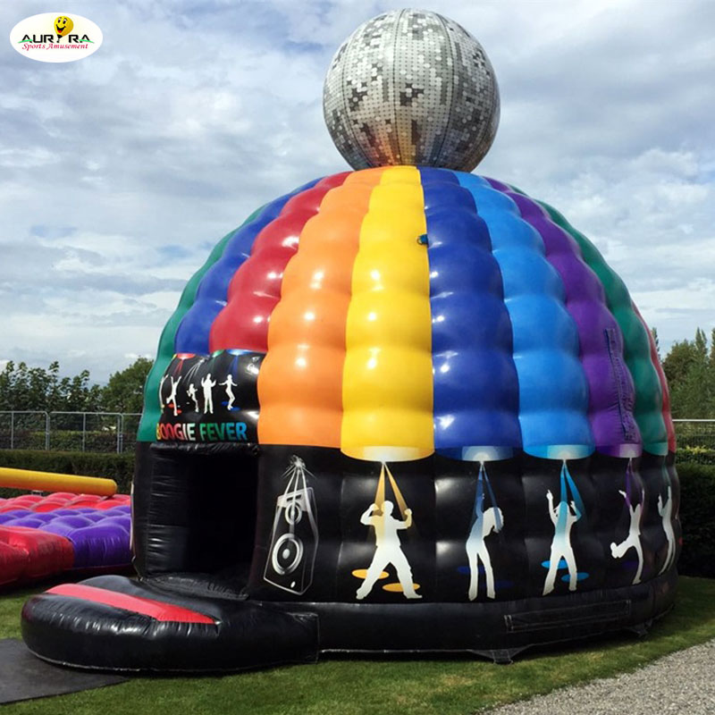 Commercial inflatable disco dome jumping castles Adults bouncy castles Dancing inflatable bounce houses for sale