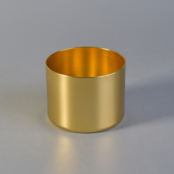 OEM Custom Luxury Golden Metal Candle Jar