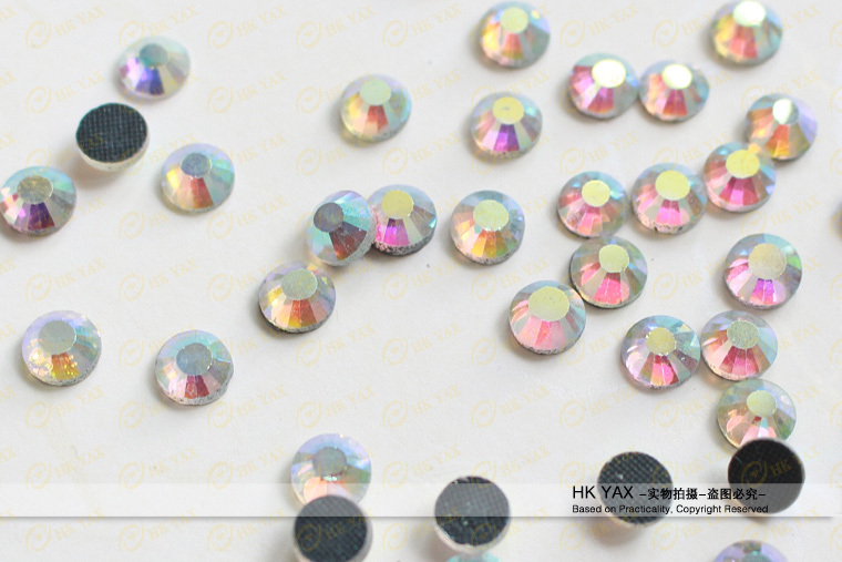 S0808 Rainbow ss20 5mm 100 gross 20% Off high quality ss10 3mm Crystal AB color Hot fix dmc rhinestones in rhinestones