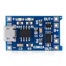 TC4056 Micro USB 5V 1A Lithium Battery Charging Protection Board TE585 Lipo Charger Module Mini Size Charger Module