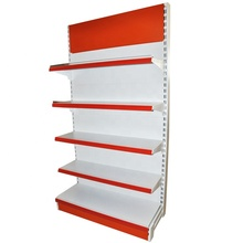 Metallic material metal supermarket <strong>shelf</strong> with flat back panel