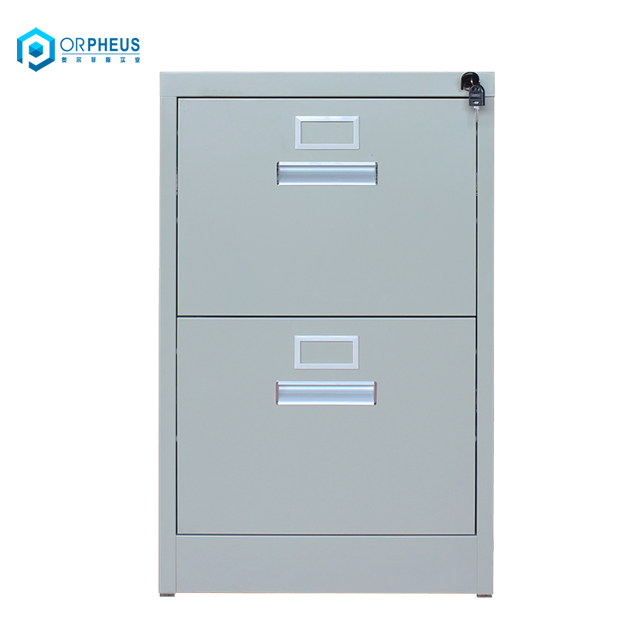 Best Selling Stow 2-Drawer Steel File Cabinet With Aluminium Handle